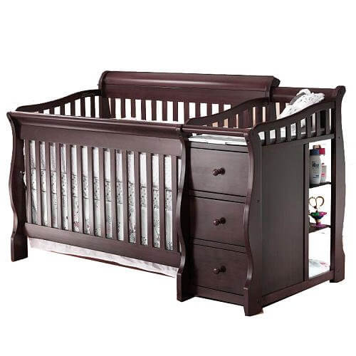 Sorelle Presley 4-in-1 Convertible Crib & Changer