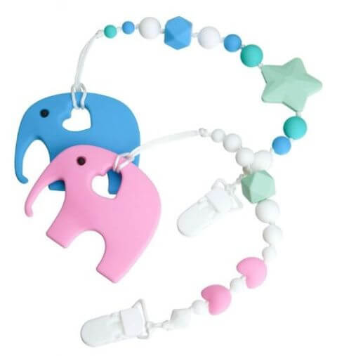 Elephant Teething Toy Set - best teething toys