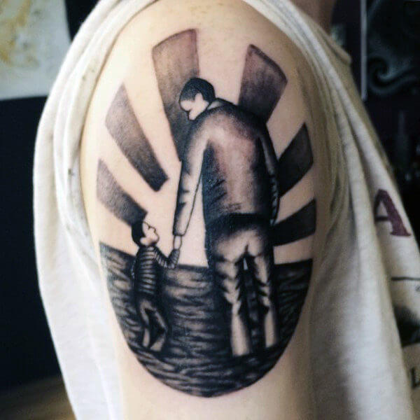 104a950ea 52 Father Son Tattoos That Will Make You Miss Your Dad