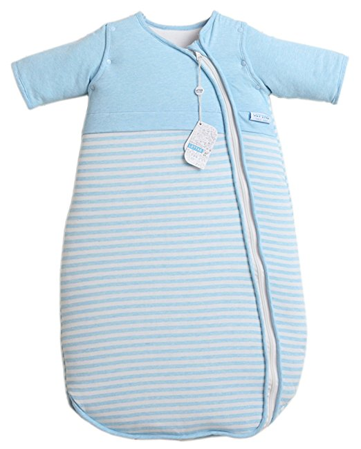 LETTAS Unisex Baby Cotton Removable Long Sleeve Zip up Sleeping Bag Thicken 3.5 TOG