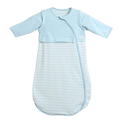 LETTAS Baby Boys and Girls 100% Cotton Stripe Removable Sleeve Sleeping Bag 0.5 Tog
