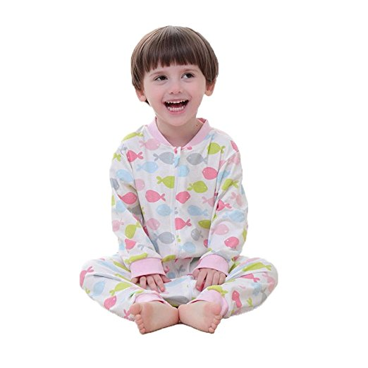 Babyfriend 100% Cotton New Cute Design Baby Girl's Pink Sleeping Bag Long Sleeve Wearable Blanket