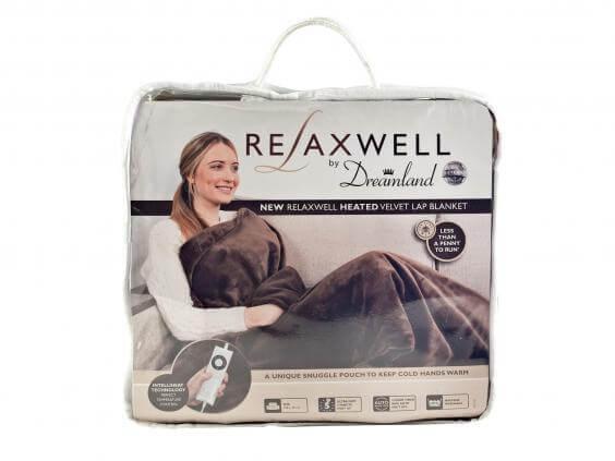Relaxwell Heated Velvet Lap Blanket