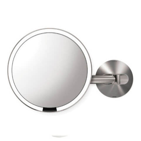 Simplehuman Wall Mount Sensor Activated Lighted Makeup Mirror