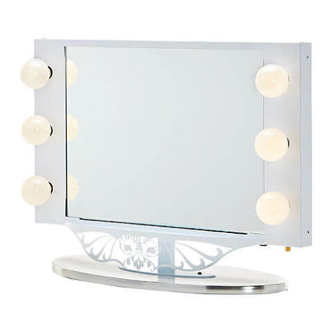 Vanity Girl Hollywood Starlet Lighted Tabletop Vanity Mirror