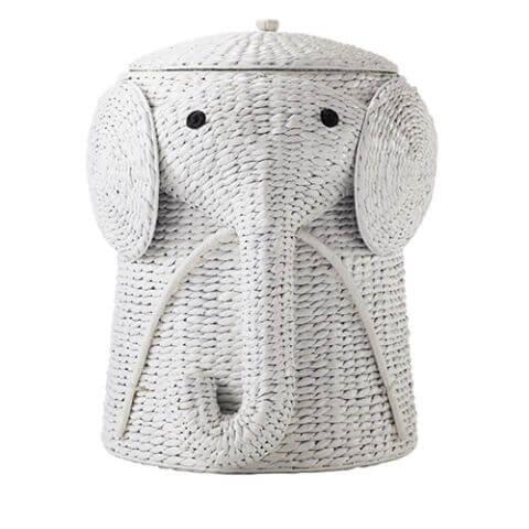Home Decorators White Elephant Hamper - best baby laundry hampers