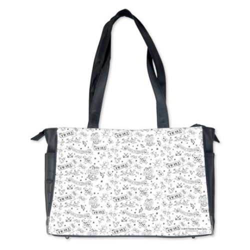 Exclusive Twins Tattoo Flash Print Diaper Bag