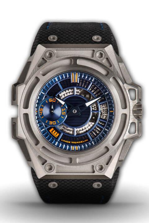 Linde Werdelin Spidolite Titanium Blue watch