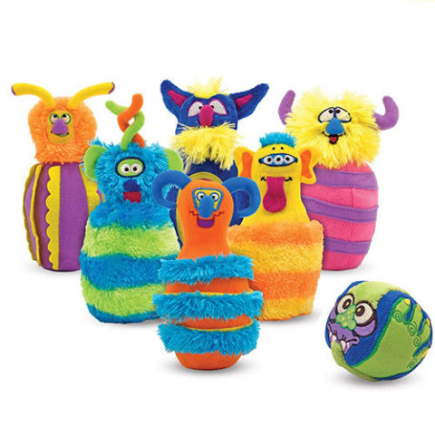 Monster Plush 6-Pin Bowling Game - best toys for toddlers