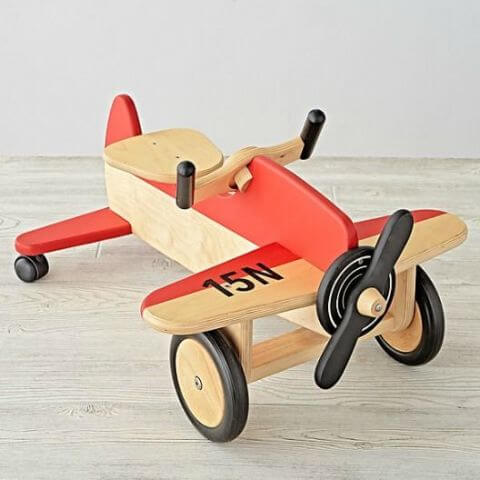 Land of Nod Airplane Ride-On Toy