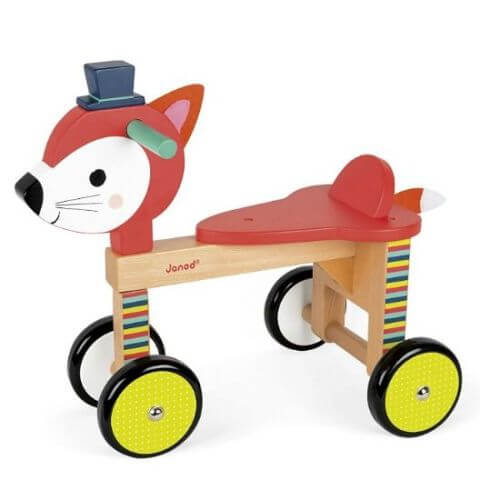 Wooden Fox Ride-On Toy - awesome ride on toys