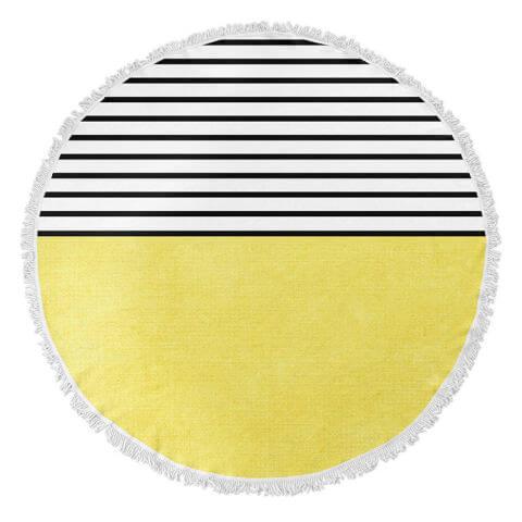 Kavka Designs Sunshine Round Beach Towel