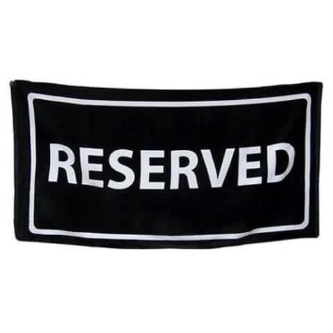 Zeckos Reserved Beach Towel