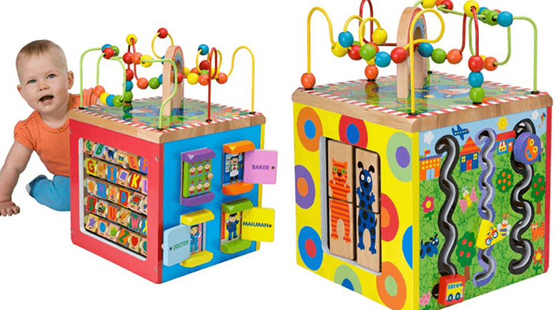 ALEX Junior My Busy Town Wooden Activity Cube U2013 First Item On The Best Baby  Activity Table Models List