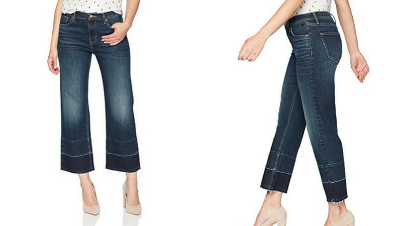 a51f2c78e59ad Denim Bloom Women's High Rise Wide Leg Released Hem Jeans